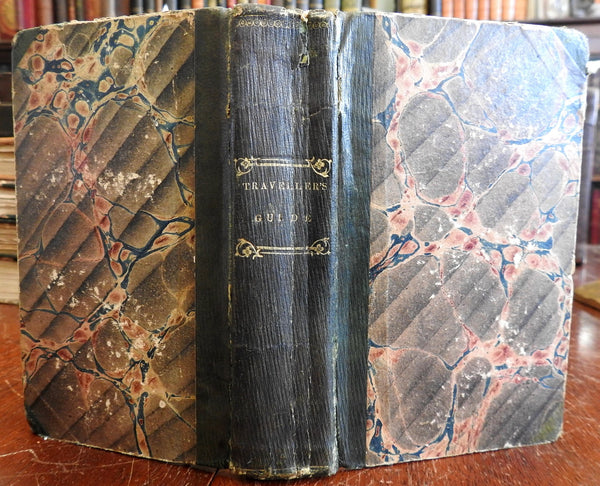 Traveler's Guide U.S. Middle & Northern States 1834 Davison leather book 5 views