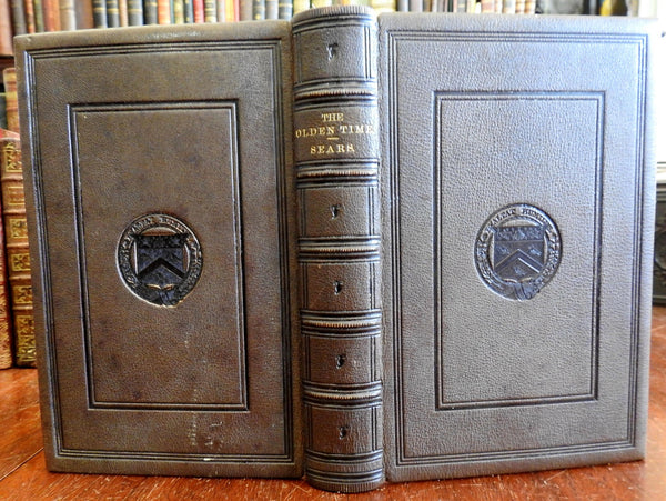 Pictures of Olden Time 1857 by Sears fine leather Early Americana Pilgrims