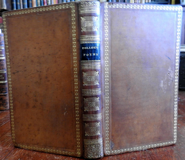 The Course of Time 1828 Robert Pollok poetry gorgeous decorative leather binding