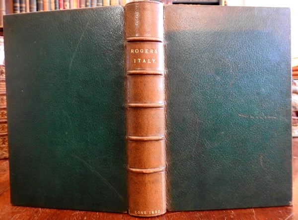 Italy: A Poem 1830 Samuel Rogers illustrated leather book Goodall engravings