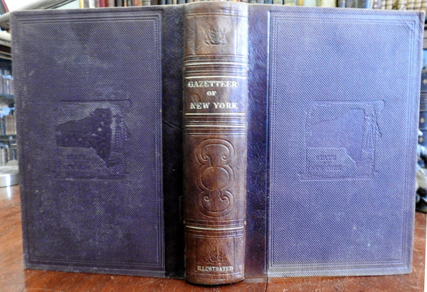 Historical Statistical Gazetteer New York 1860 Civil War era illustrated book