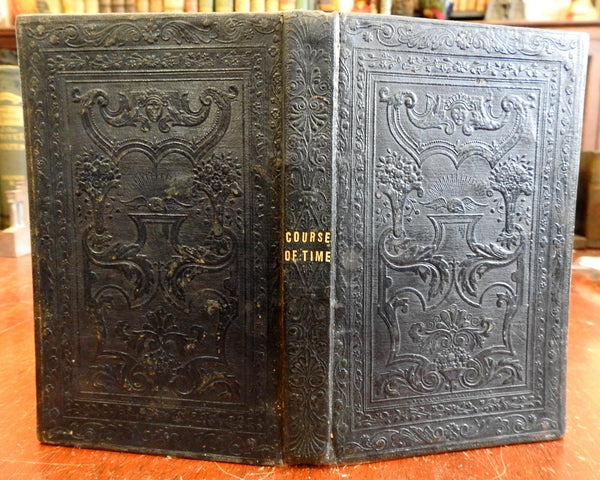 The Course of Time c. 1830's Robert Pollok poetry decorative gift binding