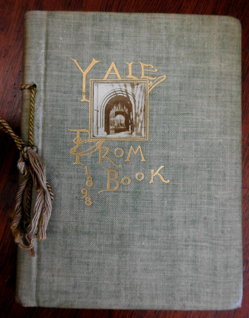 Yale University Junior Promenade 1898 rare photographic souvenir album 28 plates