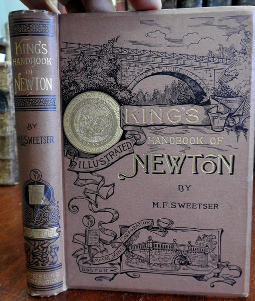 Newtown Massachusetts fine King's Handbook 1889 Sweetser illustrated book photos