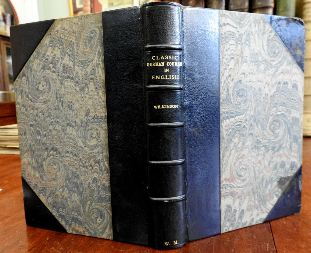 German Course in English 1891 William Cleaver Wilkinson Stikeman leather binding