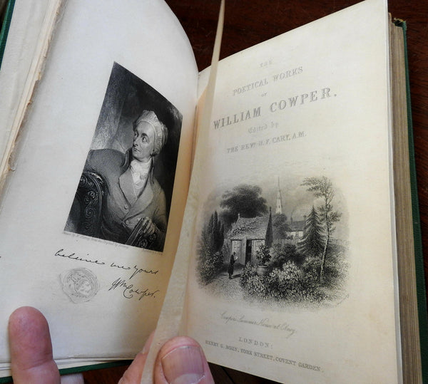 William Cowper Collected Poetical Works 1864 illustrated book w/ 18 engravings