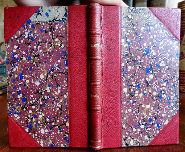 Nabucco Tragedia 1831 Giovanni Battista Niccolini leather book binding