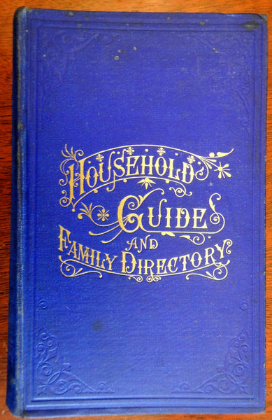 Household Guide and Family Directory 1885 New Haven CT w/ fantastic advertising