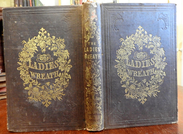 Ladies' Wreath 1847 illustrated book poetry religion literature w/ 24 plates