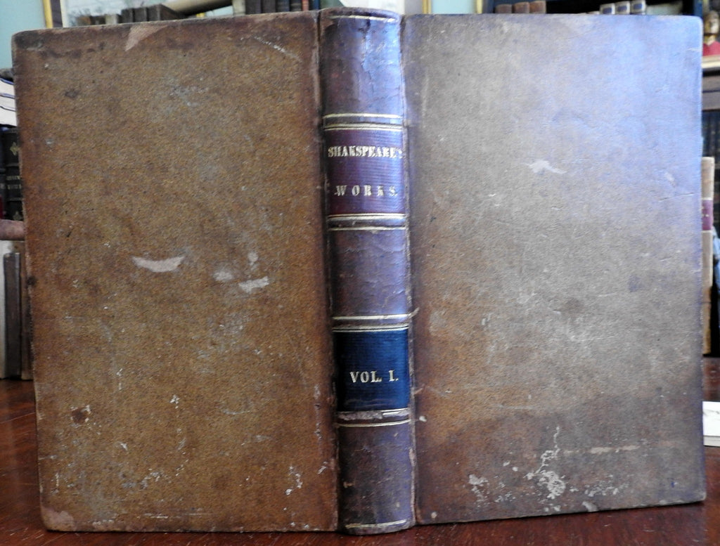 Poems of William Shakespeare Dramatic Works 1839 full leather illustrated book