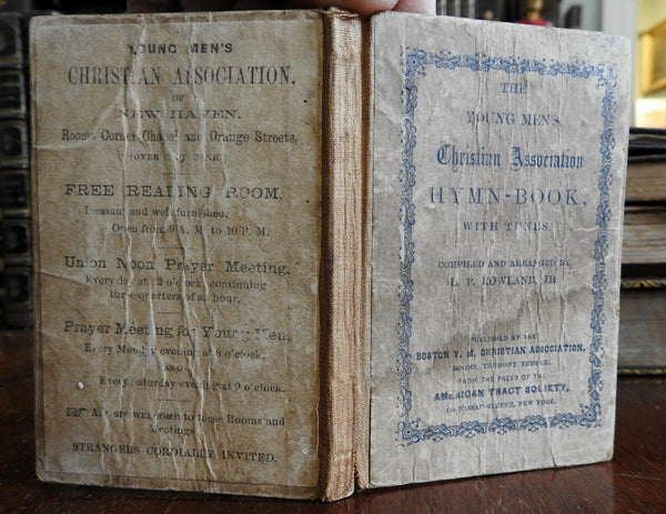 YMCA Pocket Hymnal Christianity Religion 1867 L.P. Rowland Boston YMCA