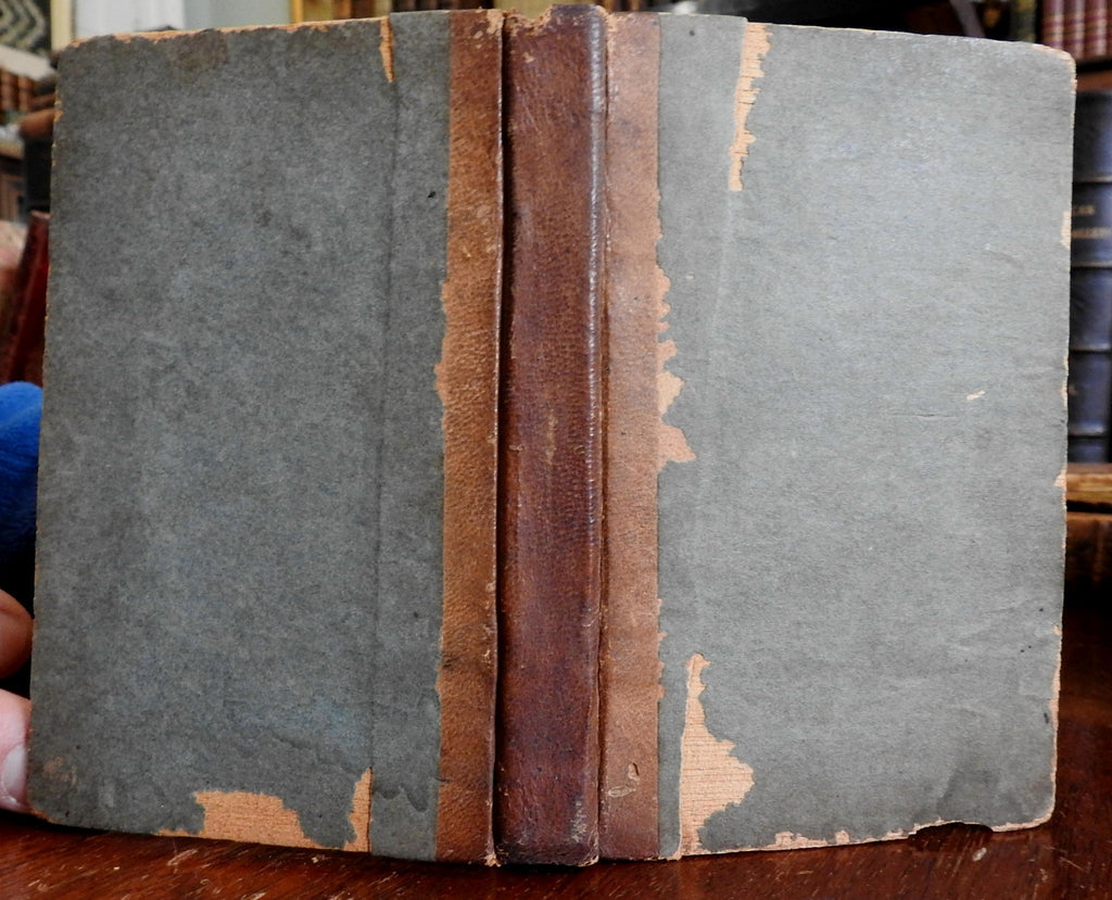 Farmer's Receipt Medical Book Pocket Farrier Horses 1831 Concord NH Fisk & Chase