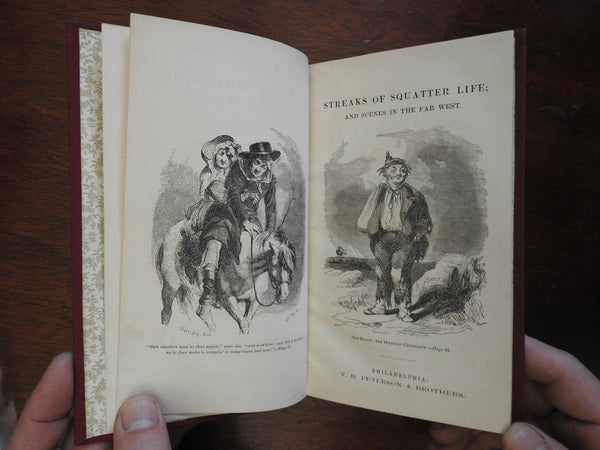 American Wild West Squatter Life 1843 Illustrated rare book 8 plates Far West