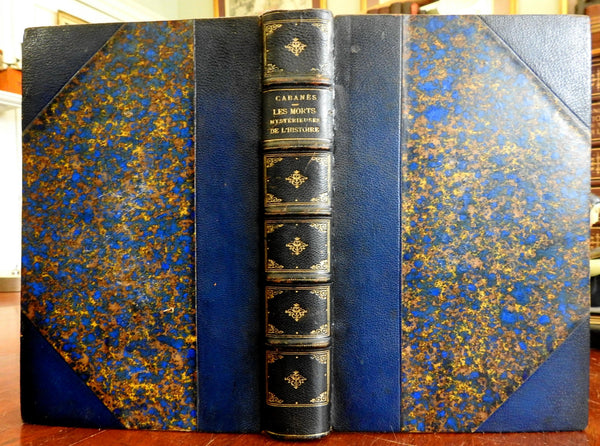 Mysterious Deaths in History 1901 Dr. Cabanes A. Maloine lovely leather binding