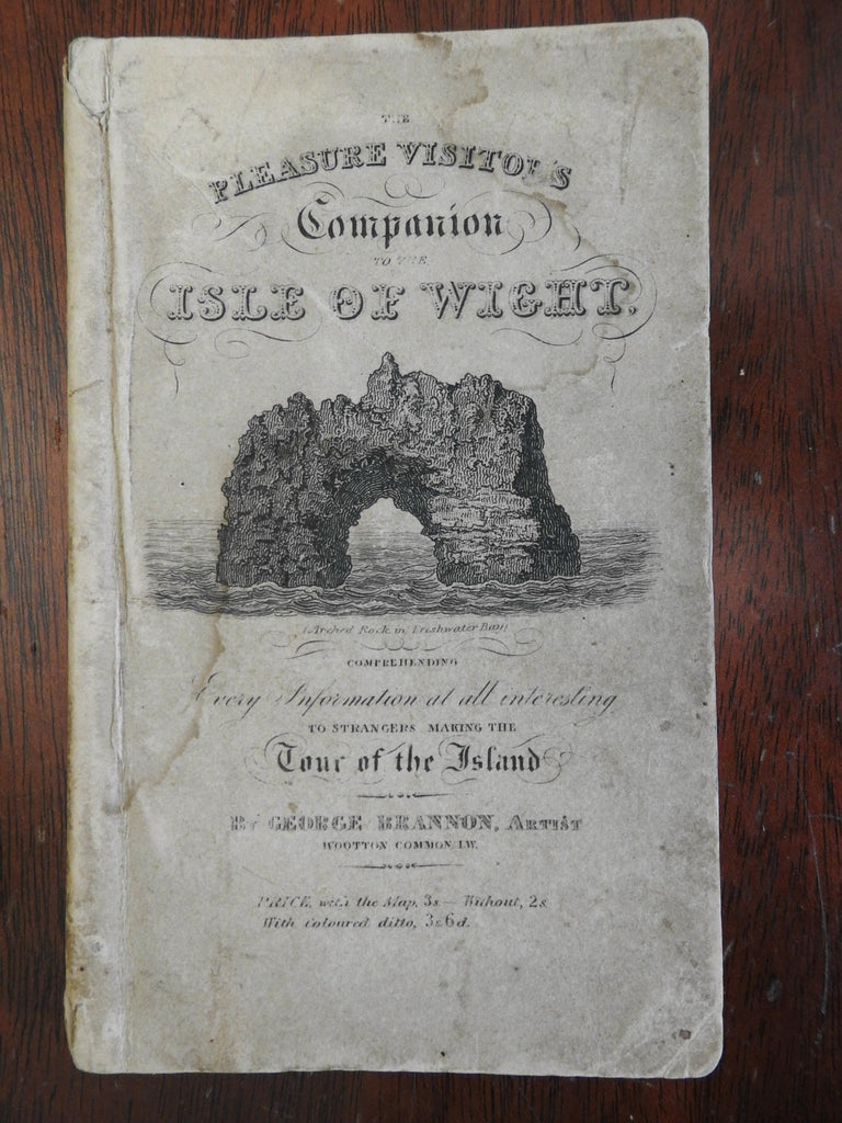 Isle of Wight Illustrated Tourist Guide 1835 w/ map original owner's inscription