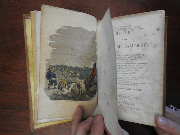 History of California 1853 Gold Rush 16 engraved plates Spanish Conquest