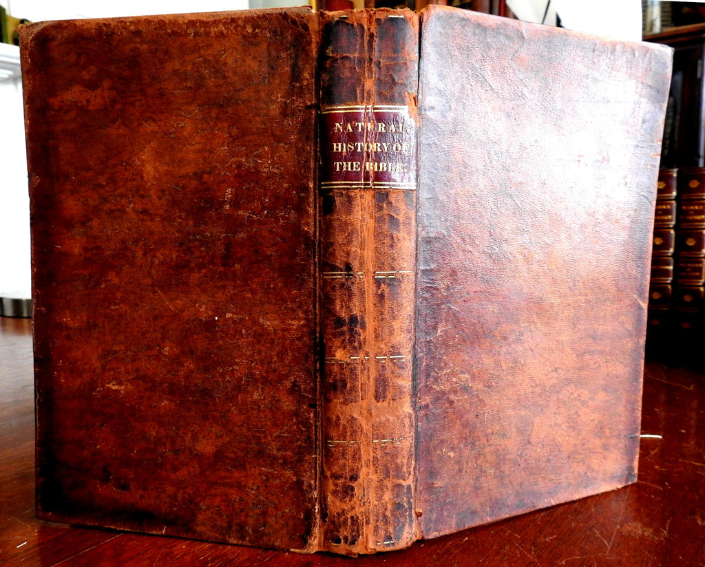 Biblical Natural History Dragons Bible Thaddeus 1820 Harris rare leather book