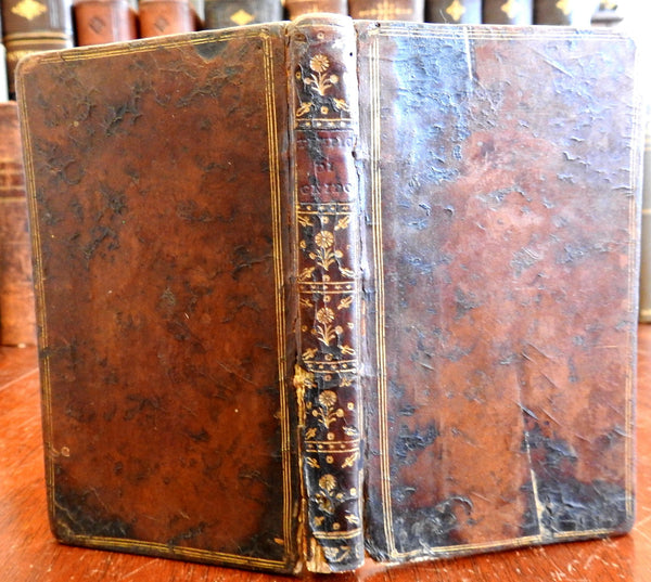 Il Tempio di Gnido 1767 Italian translation French poetry lovely leather book