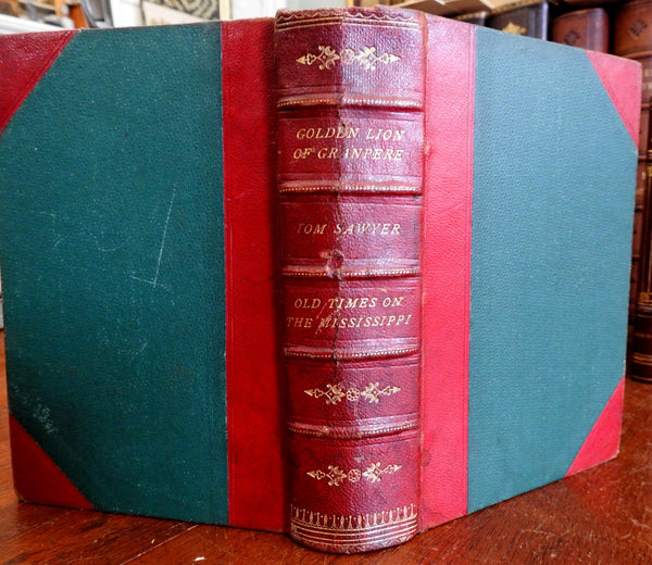 Mark Twain Tom Sawyer 1st Canadian Ed. 1876 book w/ Trollope 1st Golden Lion