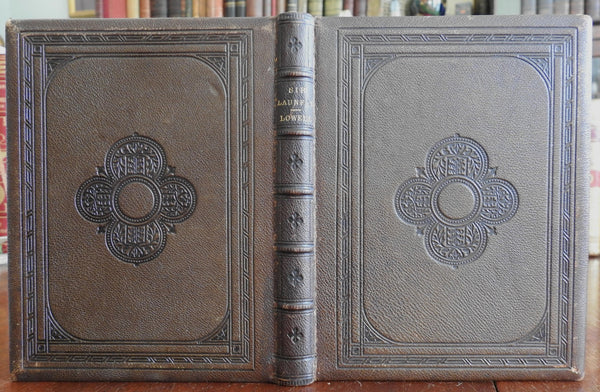 Visions Sir Launfal Holy Grail Poetry 1867 leather book publisher's gift edition