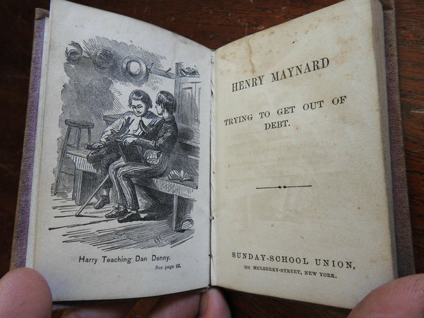 Trying to Get Out of Debt 1862 Henry Maynard money loans economics religion