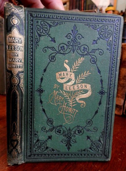 Mary Howitt SIGNED 1870 children's book The Childhood of Mary Leeson