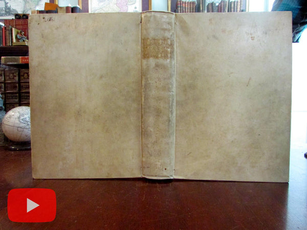 Magini Porro World Atlas 1620-21 complete vellum book 64 maps beautiful example