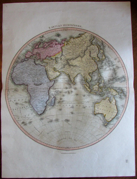 World Eastern Hemisphere Australia Tracks Capt. Cook Mts. of Moon 1816 Thomson