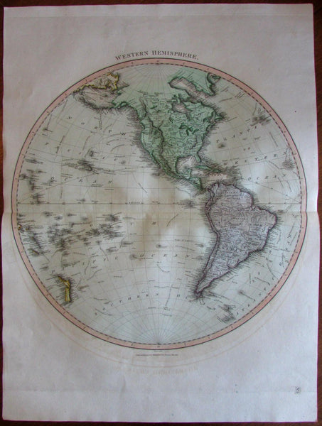 North South America Explorers tracks Capt. Cook curious Mts. 1816 Thomson map