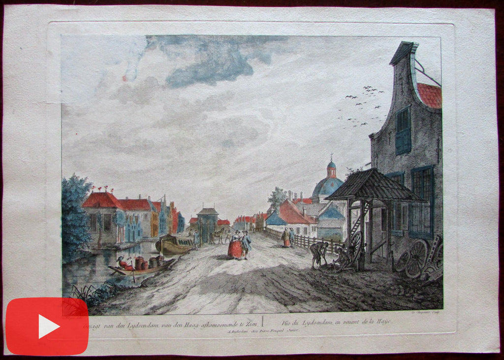 Holland the Hague den Haag c.1760 view print vue d'optique Netherlands Fargue