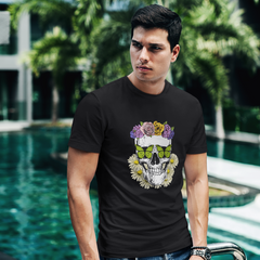 Day Of The Dead, Sugar Skull, Monarch Butterfly Soft T-Shirt