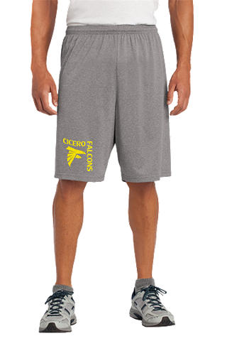 Cicero Falcons Sport-Tek® Heather Contender™ Short. ST365.