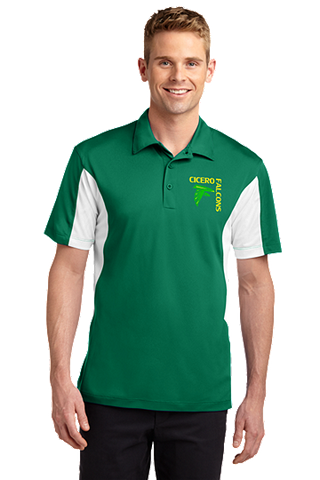 Cicero Falcons Sport-Tek® Side Blocked Micropique Sport-Wick® Polo. ST655