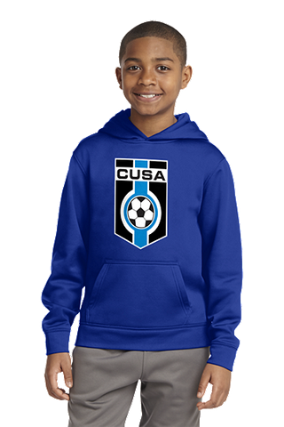 Youth Sport-Wick® Fleece Hooded Pullover. YST244