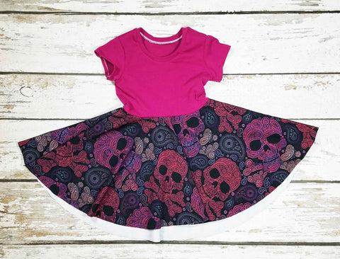 Fruit Punch Paisley Skulls - Dress