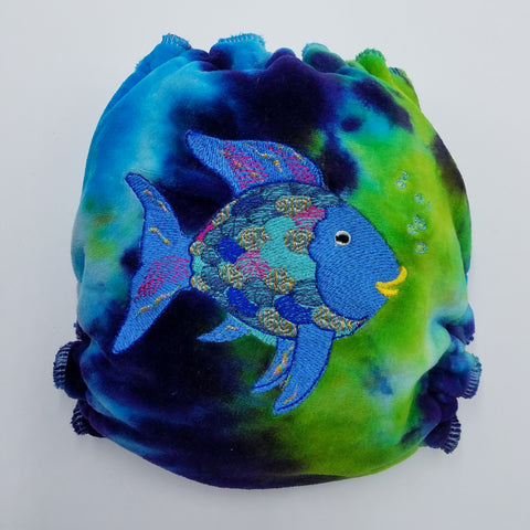 ONE SIZE DAY - RAINBOW FISH EMB - CV- WINDPRO - HYBRID FITTED - $48