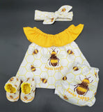Clothing Set - Newborn - Beeee Happy