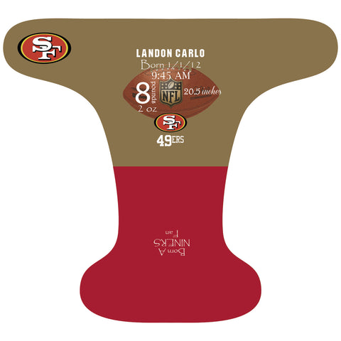 49ers Birth Stat - Custom - DAY WITH WINDPRO - Hybrid Fitted