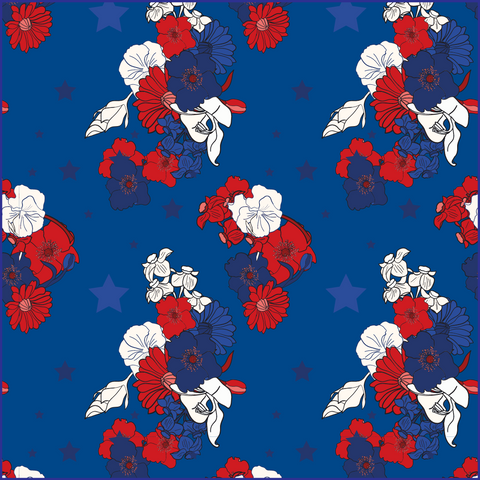 4TH Floral Blue