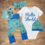 Infant Toddler Baby Sets - Alphabet Turquoise ($10-$50)