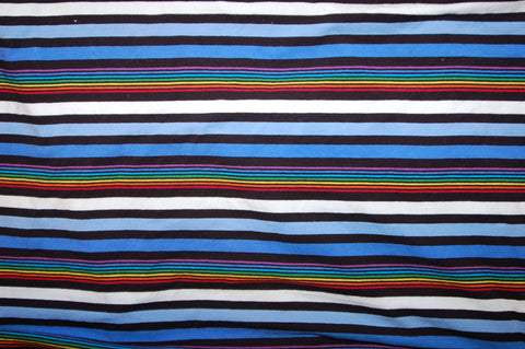 Blue and Rainbow Stripes - Choose: size, inner and snaps - DAY WITH WINDPRO - Hybrid Fitted
