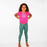 Whacky Cat Teal (second) - Girls Medium - (Ready To Ship)