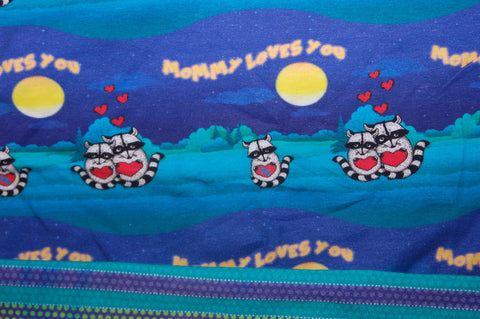 Mommy Loves you/stripe combo - cl - Choose: size, inner and snaps - DAY WITH WINDPRO - Hybrid Fitted