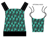 KB Carriers - Feathers Teal - CUSTOM  $189