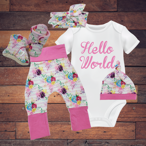 Infant Toddler Baby Sets - Floral Stripe ($10-$50)