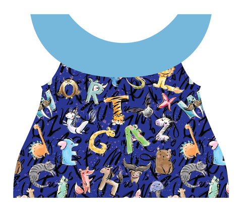 Clothing Set - Newborn - Fun Alphabet Royal