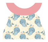 Clothing Set - Newborn - Mommy and Baby Whale