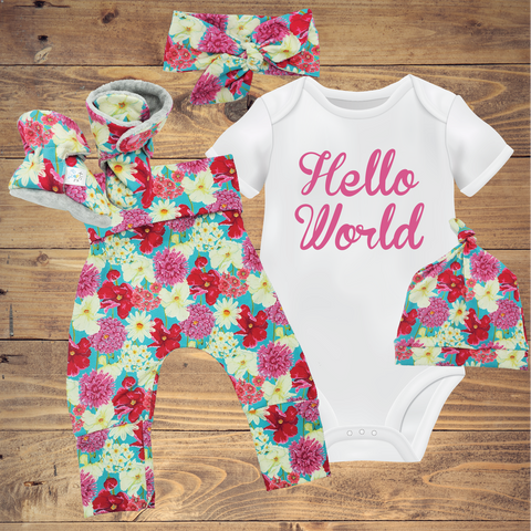 Infant Toddler Baby Sets - Floral on Turquoise ($10-$50)
