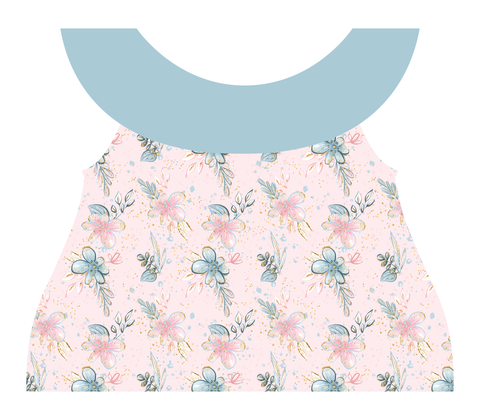 Clothing Set - Newborn - Pastel Flowers