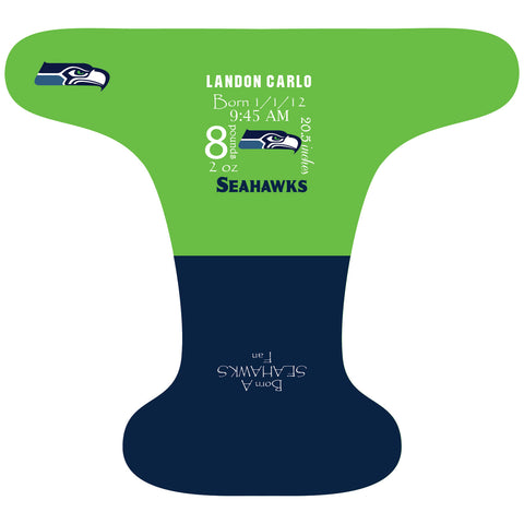Seahawks Birth Stat - Custom - DAY WITH WINDPRO - Hybrid Fitted